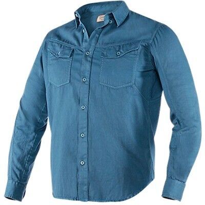 Dainese Hoffman Mens Button Down Shirt Blue