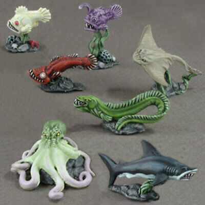 Reaper Dark Heaven Legends 02948 Familiar Pack VII Aquatic Sea Pet Shark Octopus