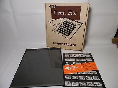 "PROFILE PRINT FILE Custom Darkroom Proofer Negative Preservation 11"" X 12 1/2"""