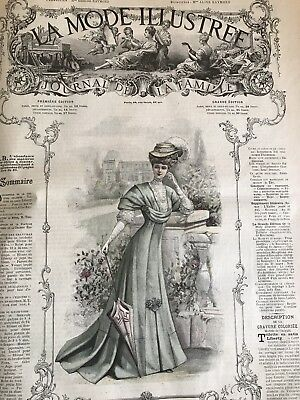 French ORIGINAL MODE ILLUSTREE SEWING PATTERN April 14, 1907