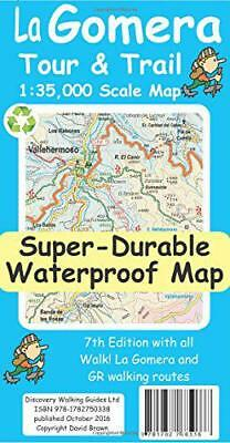 La Gomera Tour & Trail Super-Durable Map (7th ed) by David Brawn | Map Book | 97