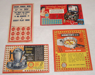 Vintage Group Lot Advertising Punch Card Gambling Trade Stimulator Kitchen