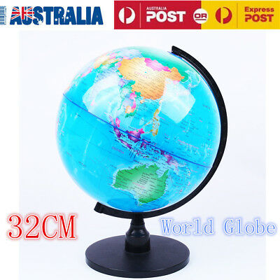 32cm Blue Ocean Map World Globe With Swivel Stand Geography Educational Toy Gift