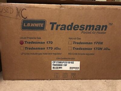 L.B White Tradesman 170P Portable Heater-Used