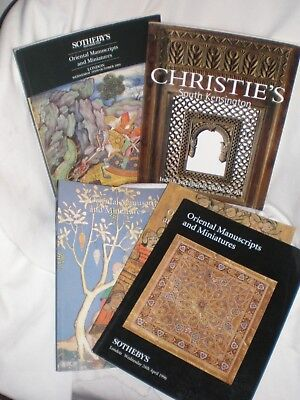 Oriental Miniatures & Manuscripts  Lot Sale  (5 ) Sotheby's & Christie's varies
