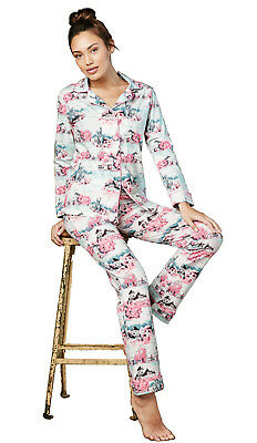 BedHead Pajamas Cherry Hearts Stretch L//S Shorty PJ Set 1177-SL7-7038