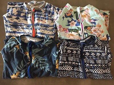 4 x BONDS Zippy Wondersuits Long Sleeve & Leg Size 3 - boys girls bulk bundle