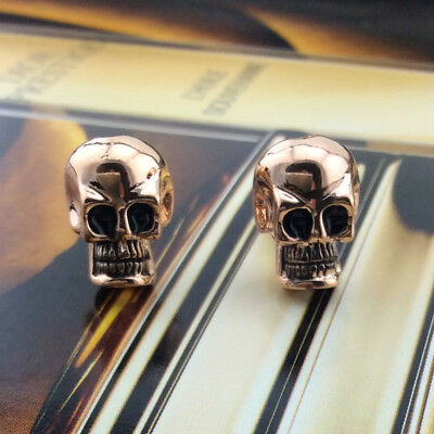 3D Skull Head Rose GP Punk  Earrings Halloween Jewellery Skeleton Ear Stud Gift