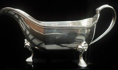 Silver Sauce Boat, Walker & Hall, Chester 1938