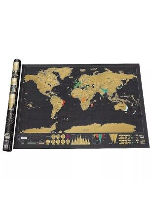 FUNNY GADGET Xmas Gift Ideal Present for Family And All Friends Scratch On Map