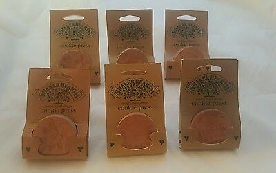 Lot Of 6 Wilton Shaker Hearth Clay Sun And More  Cookie Presses 1996 Brand New