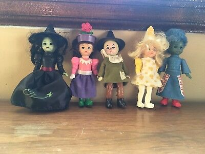 Lot Of 5 Madame Alexander McDonalds Toys Wizard Of Oz scarecrow wicked witch