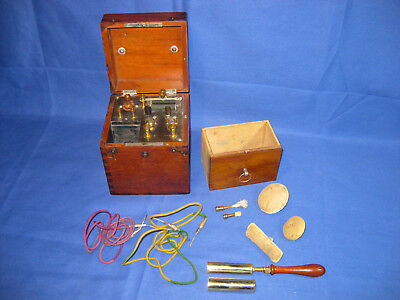 Antique Collectible Mahogany Medical Instrument By K. Schall. London