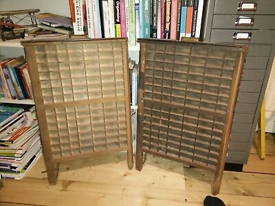 Wooden printer trays - vintage original LUDLOW trays (2 for sale)