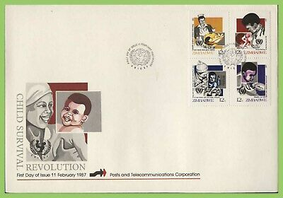 Zimbabwe 1987 Child Survival Campaign set on First Day Cover