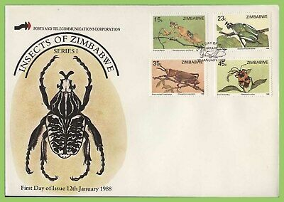 Zimbabwe 1988 Insects set on First Day Cover