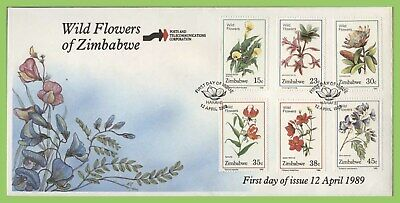 Zimbabwe 1989 Wild Flowers (1st series) set on First Day Cover