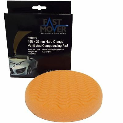 "Fast Mover FMT6075 150mm 6"" Medium Ventilated Compounding HookNLoop Foam Pad"