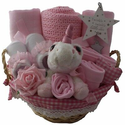 Baby gift basket/hamper girl unicorn baby shower baby gift maternity gift unique
