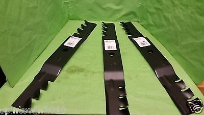 """Set Of 3 Made In Usa Blades Toro- Time Cutter Z 50"""" Toro 110-6837-03 112-9759-03"""