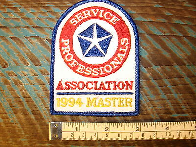 1994 Dodge Viper Master Service Patch Chrysler Plymouth Racing Srt8 Srt10 300 Rt