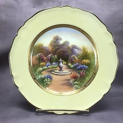 Royal Worcester 1926 Hand Painted Signed Rushton Claremont Scene Plate (C3320) c