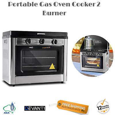 Powerful Camping Portable Oven and Stove Burners LPG Gas Stainless Steel AGA