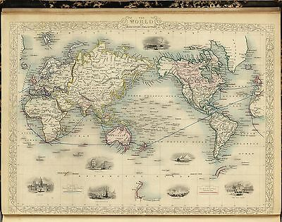 1851 Illustrated and Modern World Atlas 80 antique maps DVD A10