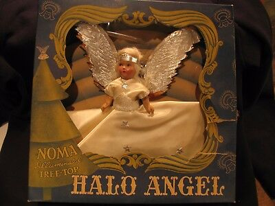 Noma Illuminated Halo Tree Angel Composition Face in Original box