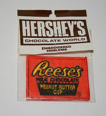 Vtg Reese's Peanut Cup Candy Hershey's Chocolate Bar Patch 1970s NOS New MIP