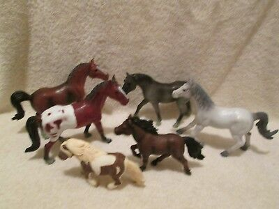Schleich Horses 2 small 4 medium Toy Major Trading total of 6 gently used