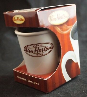 Tim Hortons Christmas ornament, mini coffee cup, new old stock, 2011