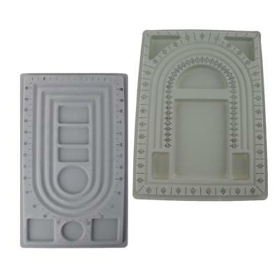 2pcs Bead Design in Beading Board Gray Flock DIY Jewelry Making Craft Tray
