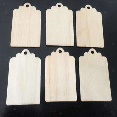 10pcs Natural Wood Rustic Gift Tags Hanging Label for Wedding Favors Crafts