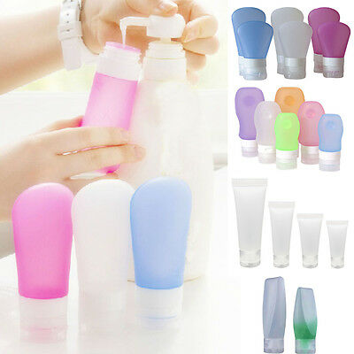 Silicone Travel Packing Tubes Bottle Lotion Shampoo Bath Container Press Bottle