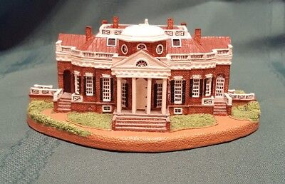 1993 Danbury Mint - Monticello - Homes of Presidents Collection - Jefferson