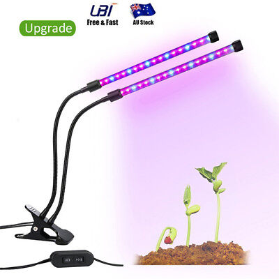 18W Full Spectrum Dual Head Clip Grow Light Growing Lamp Light For Plant Flower