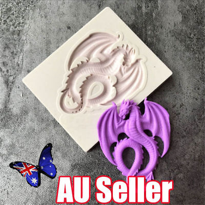 3D Dragon Shape Cake Chocolate Decor Baking Mould Biscuit Pastry Silicone Mold N