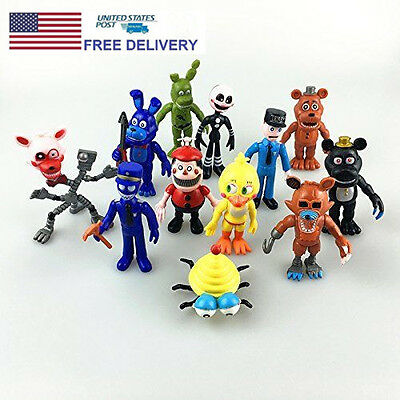 12X Five Nights at Freddy's Fnaf Game Action Figures Toys Dolls 4INCHES US STOCK