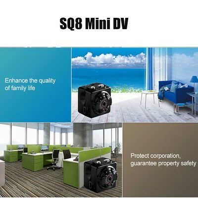 SQ8 Mini Digital DV Camera HD 1080p Pocket Camera Night Vision Car Vehicle Cam