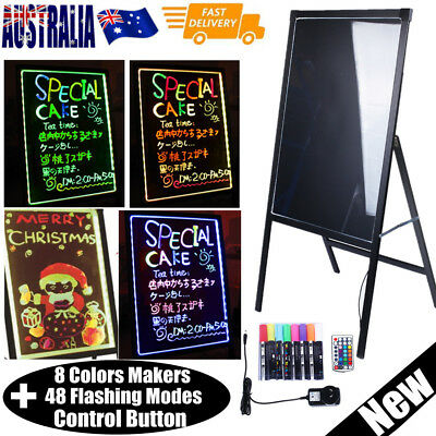 LED Flashing Writing Message Board with 8 Makers & Control Button Neon 2 Styles