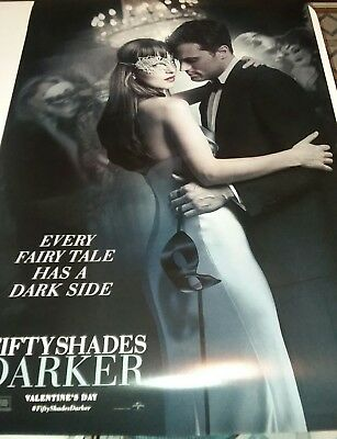 50 SHADES DARKER - 2017 - original D/S 27X40 ADVANCE Movie Poster- JAMIE DORNAN