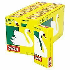 SWAN Extra Slim Filter Tips, Pre Cut Cigarette Rolling filter tips, 20 X 120 Box