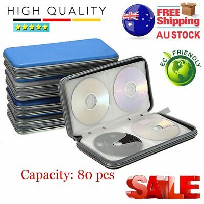 80x Disc CD DVD Portable Storage Case Wallet Hard Box Bag Holder NewOUO CU&AU