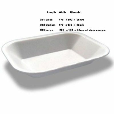 White Takeaway Chip Shop Polystyrene Foam Trays  Linpac Best Quality 100-1000