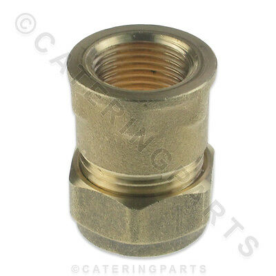 "BRASS CONVERTER 15mm COMPRESSION to 3/8"" INCH BSP FEMALE FITTING ADAPTER PIPE"