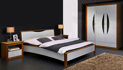 schlafzimmer monaco schrank bett nakos kiefer massiv white wash und stone eur 959 95 picclick de. Black Bedroom Furniture Sets. Home Design Ideas