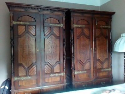 Antique Pair of Wardrobes from the 1890-1900 era