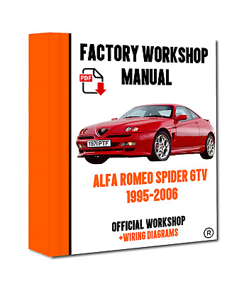 >> OFFICIAL WORKSHOP Manual Service Repair Alfa Romeo Spider GTV 1995 - 2006