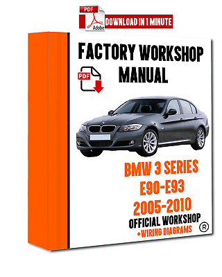 official workshop manual service repair bmw series 3 e90 2005 - 2010  >>